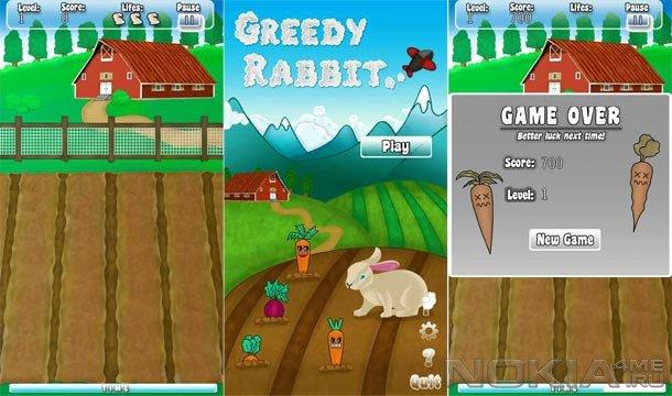 GreedyRabbit - Скачать игру для Symbian^3 / Anna / Belle