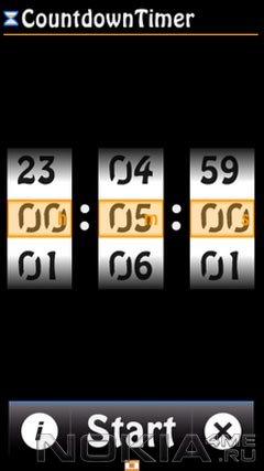 CountdownTimer - Таймер для Symbian