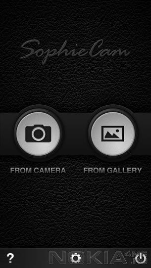 Sophie Cam - Обработка фото на Symbian