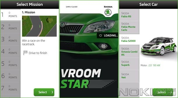 Vroomstar - Гонки для Windows Phone 7.5 и выше