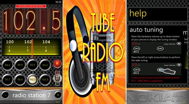 Tube Radio FM - Радио для Windows Phone 7.5 и выше