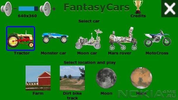 Fantasy Car- Игра для Symbian^3 / Belle