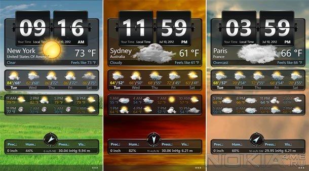Weather+ - Продвинутый прогноз погоды для Windows Phone 7