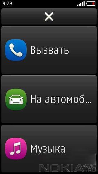 Nokia Car Mode - Приложение для MeeGo
