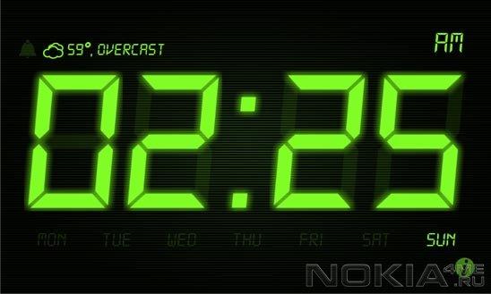 Night Stand Clock - Настольные часы для Windows Phone 7.5