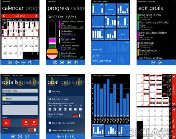 Daily Goals - Приложение для Windows Phone 7 - 8
