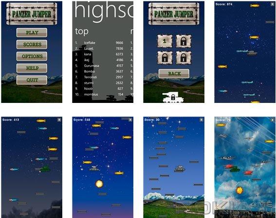 Panzer Jumper - Игра для Windows Phone 7.5 - 8