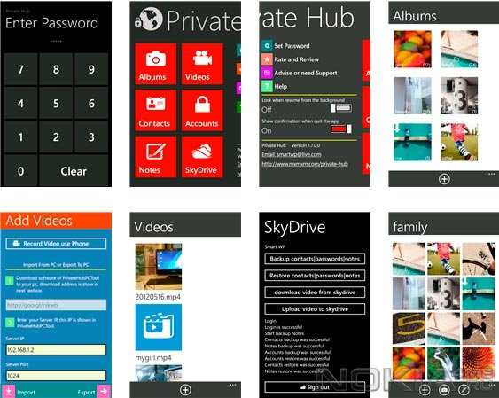 Private Hub - Приложение для Windows Phone 7.5 - 8