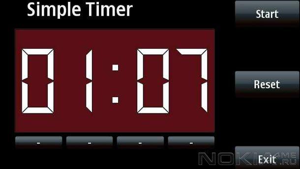 SimpleTimer - Таймер для Symbian^3