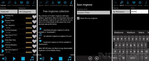 Free Ringtones Pro - Рингтоны для Windows Phone 7.5 - 8