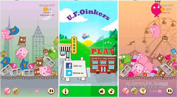 U.F.Oinkers - стратегическая игра на Windows Phone 7.5-8