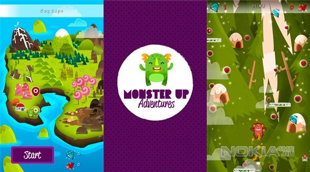 MonsterUp Adventures - Аркада для Windows Phone 7.5-8
