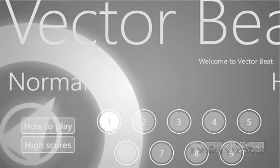 Vector Beat - музыкальная игра для Windows Phone 7.5-8