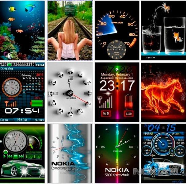 Флэш часы для Nokia 240x320