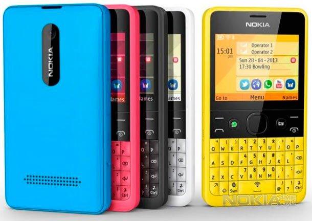 Nokia Asha 210 - анонсирован социальный телефон
