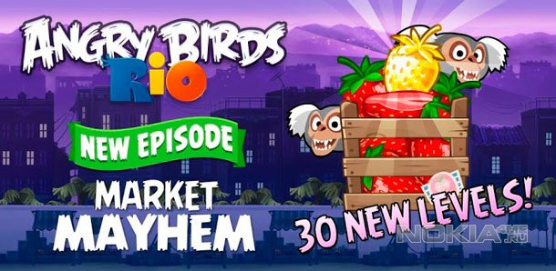 Angry Birds Rio - Энгри Бердс Рио для Nokia Lumia